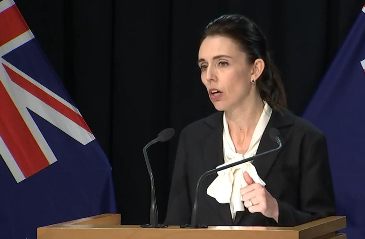 acinda Ardern announces New Zealand event restrictions