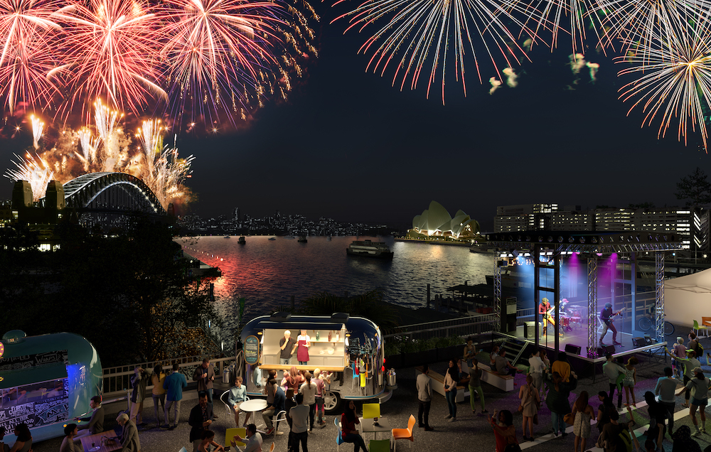 The space will be a vantage point for visitors to watch NYE fireworks