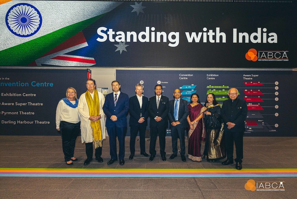 ICC Sydney CEO Geoff Donaghy (second from left) and delegates at IABCA 2021. Credit: Ghandi Creations.